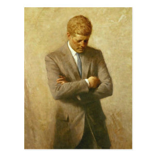 U S President John F Kennedy by Aaron Shikler Postcard