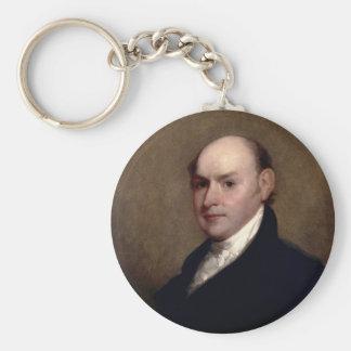 U.S. President John Quincy Adams by Gilbert Stuart Basic Round Button Key Ring