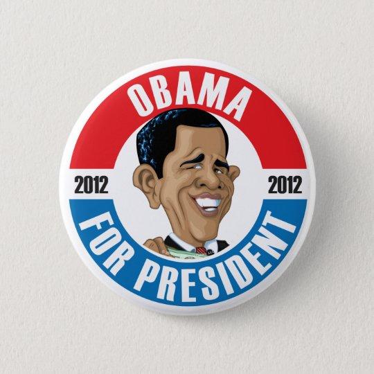 U.S. Presidents Campaign Button: #44 Obama 6 Cm Round Badge
