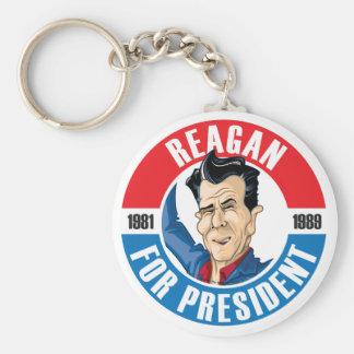 U.S. Presidents Campaign Keychain #40 Reagan