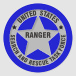 U.S. Ranger Search and Rescue Task Force Round Sticker