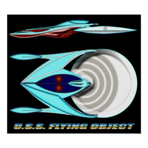 U.S.S. FLYING OBJECT_MCC-1947_UFO Class Poster