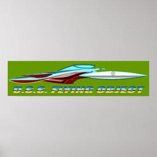 U S S FLYING OBJECT_MCC-1947_UFO Class Posters