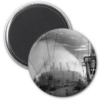 U.S.S. Indiana 6 Cm Round Magnet