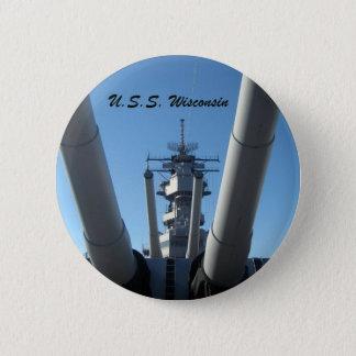 U.S.S. WIsconsin 6 Cm Round Badge