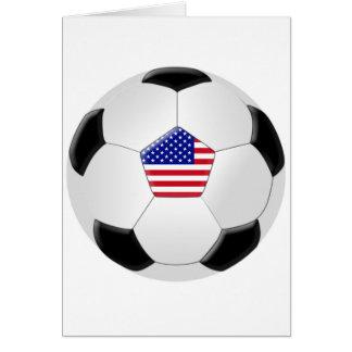 U.S Soccer Ball Greeting Card