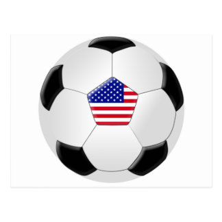 U.S Soccer Ball Postcard