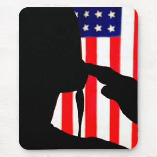 U S Soldier Silhouette Mousepad