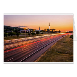 U.S. Space and Rocket Center at Sunset Greeting Card