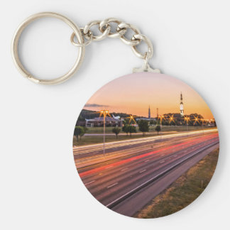 U.S. Space and Rocket Center at Sunset Keychains