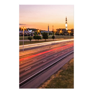 U.S. Space and Rocket Center at Sunset Stationery Design