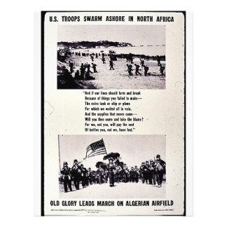 U.S. Troops Swarm Ashore In North Africa, Old Glor Flyer