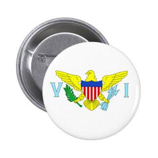 U.S. Virgin Islands 6 Cm Round Badge