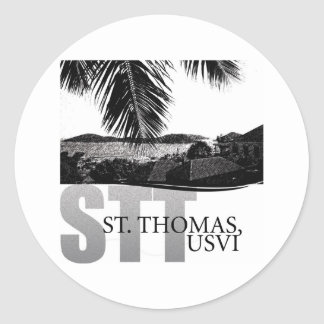 U.S. Virgin Islands Classic Round Sticker