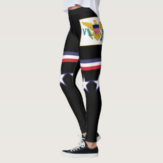 U.S. Virgin Islands Flag Leggings
