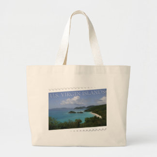 U.S. Virgin Islands - St. John's Trunk Bay Large Tote Bag