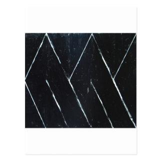 U-shaped Black Angular Curves (black minimalism) Postcard