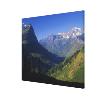 U-shaped glacial valley in the Rocky Mountains in Canvas Print