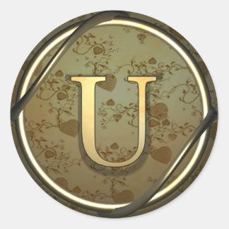 u round stickers