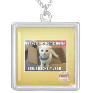 U take me home now? silver plated necklace