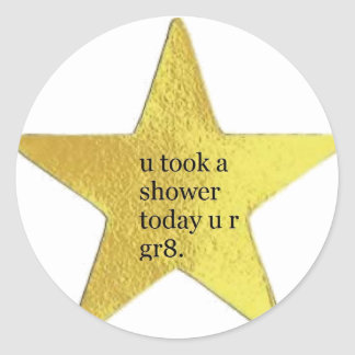 U took a shower today sticker set