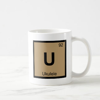 U - Ukulele Music Chemistry Periodic Table Symbol Coffee Mug