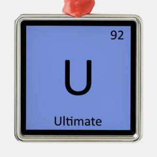 U - Ultimate Frisbee Sports Chemistry Symbol Christmas Ornament