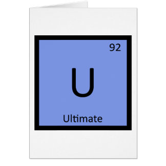 U - Ultimate Frisbee Sports Chemistry Symbol Greeting Card