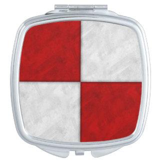 U Uniform Watercolor Nautical Signal Maritime Flag Travel Mirror