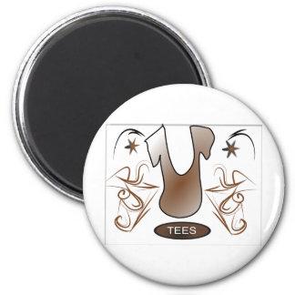 U Vector 6 Cm Round Magnet