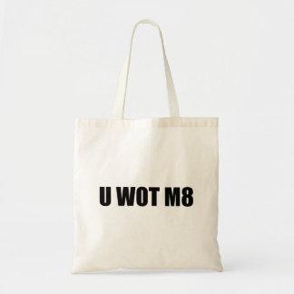 U WOT M8 CANVAS BAGS