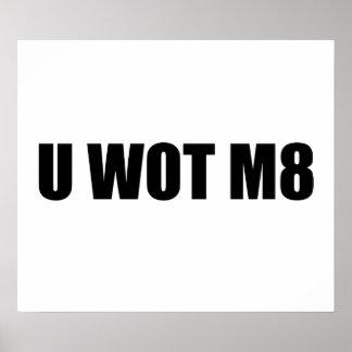 U WOT M8 POSTERS