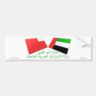 UAE & Abu Dhabi Flag Tiles Bumper Sticker
