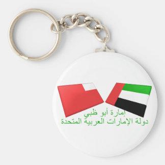 UAE & Abu Dhabi Flag Tiles Key Ring
