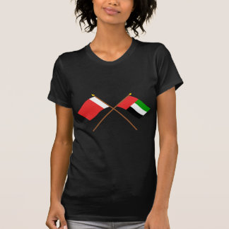 UAE and Dubai Crossed Flags T-Shirt
