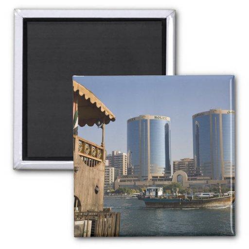 UAE, Dubai, Dubai Creek. Dhow cruises channel Refrigerator Magnets