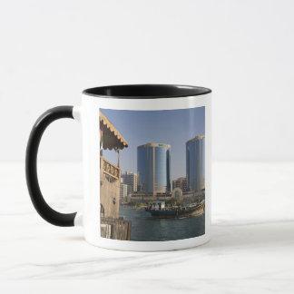 UAE, Dubai, Dubai Creek. Dhow cruises channel Mug