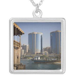 UAE, Dubai, Dubai Creek. Dhow cruises channel Silver Plated Necklace