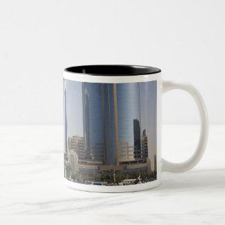 UAE, Dubai, Dubai Creek. Dhow cruises channel Two-Tone Coffee Mug