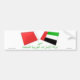 UAE & Dubai Flag Tiles Bumper Stickers