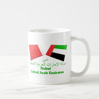 UAE & Dubai Flag Tiles Coffee Mug