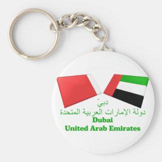 UAE & Dubai Flag Tiles Keychains