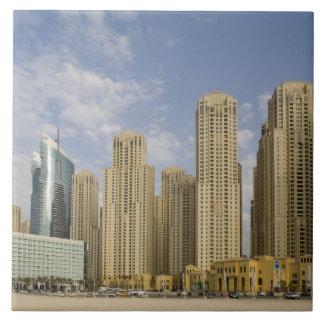 UAE, Dubai, Marina. Jumeirah Beach Residence Large Square Tile