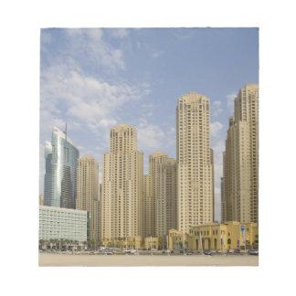 UAE, Dubai, Marina. Jumeirah Beach Residence Notepad