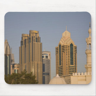 UAE, Dubai. Minaret of mosque in Al Wasl, with Mouse Mat