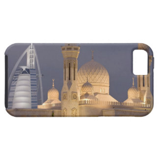 UAE, Dubai. Mosque in evening with Burj al Arab iPhone 5 Covers
