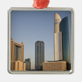UAE, Dubai. Park Place Tower and other Christmas Ornament