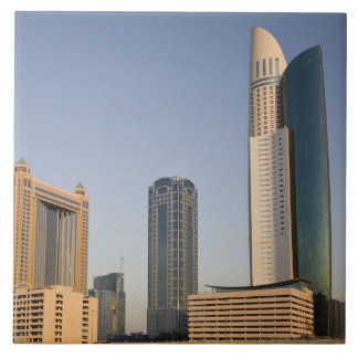 UAE, Dubai. Park Place Tower and other Large Square Tile