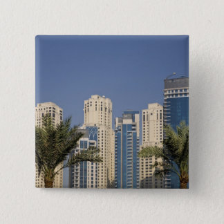 UAE, Dubai. Towers of Jumeirah Beach Residence 15 Cm Square Badge
