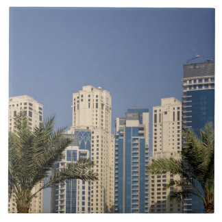 UAE, Dubai. Towers of Jumeirah Beach Residence Large Square Tile